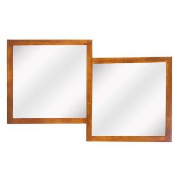 Miroir Double Omega Hévéa
