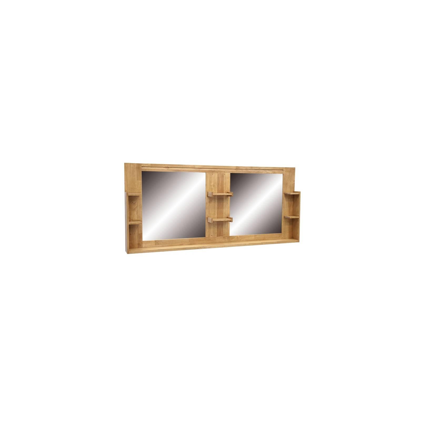 Miroir double sdb en bois massif d coration scandinave salle de bain - Miroir salle de bain bois ...