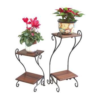 Sellette set Fer forgé et Palissandre - meuble style romantique