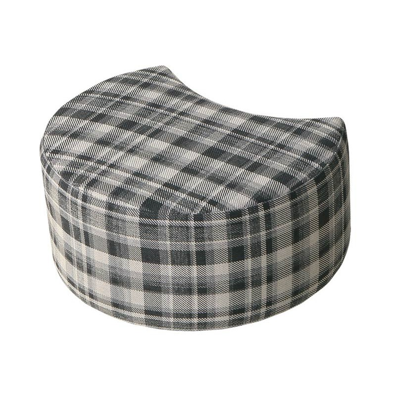 pouf en tissu mokka vanilla repose pieds design. Black Bedroom Furniture Sets. Home Design Ideas