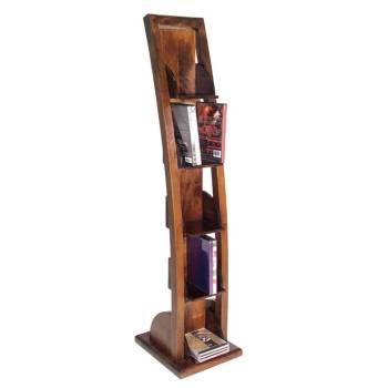 Meuble Dvd Escalier Chine Hévéa - meuble bois exotique