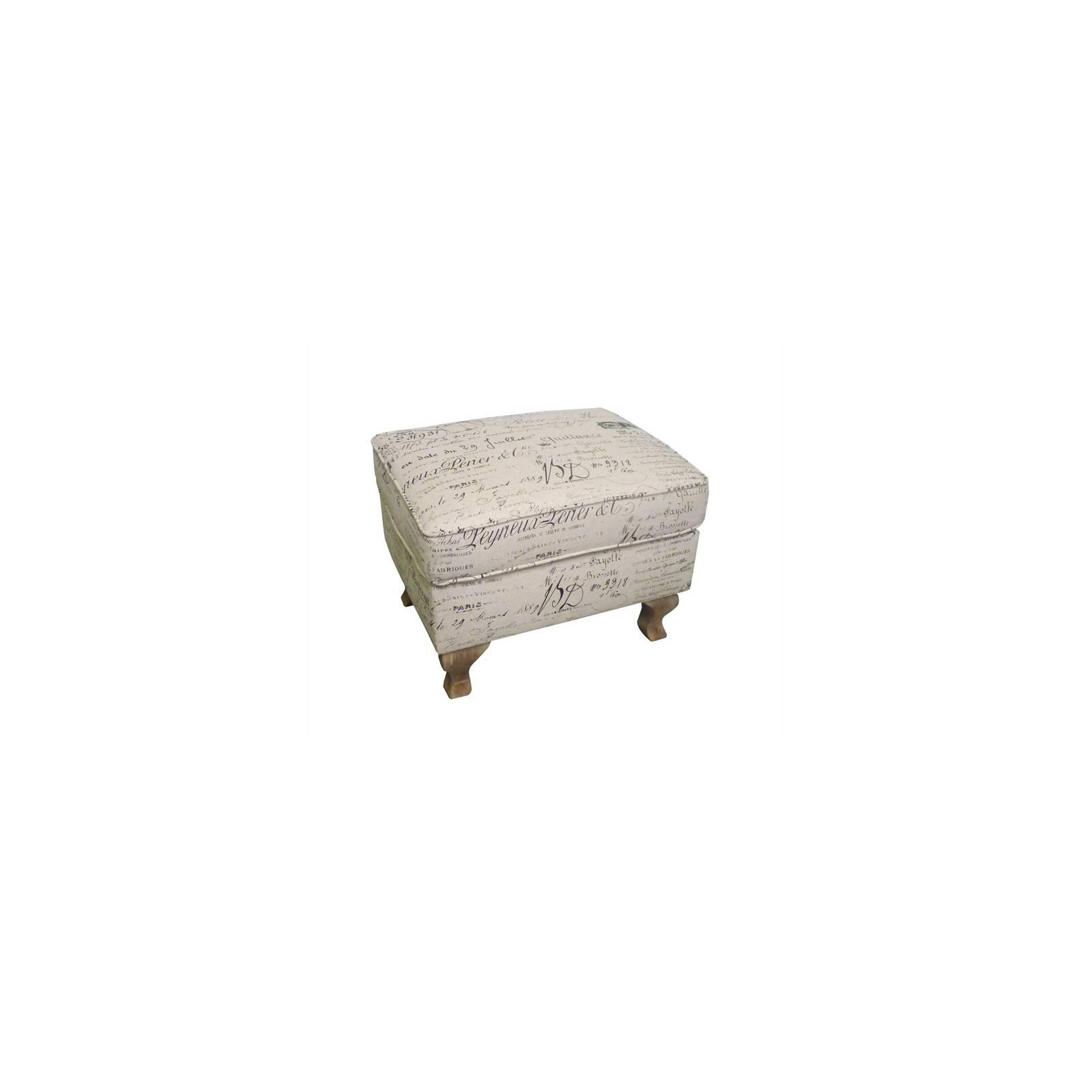 Repose-pieds Baroque Armand Tissu - pouf style classique