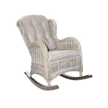 Rocking Chair Enora Kobo Rotin - fauteuil à bascule