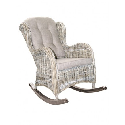 Rocking chair en rotin enora achat fauteuil bascule for Rocking chair blanc chambre bebe