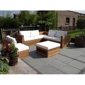 Salon De Jardin Vicio Teck - meuble de jardin