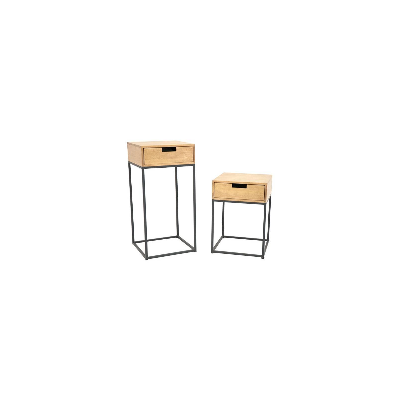 Set De Deux Consoles Berlin Hévéa - meuble bois exotique