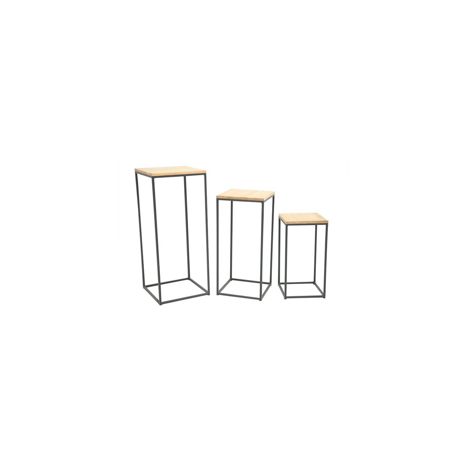Set De Trois Consoles Berlin Hévéa - meuble bois exotique