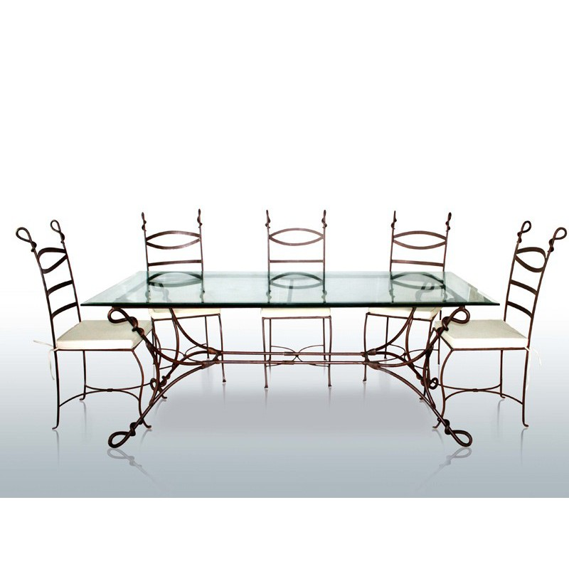 Structure de table en fer forg cabras mobilier classique for Meuble fer forge