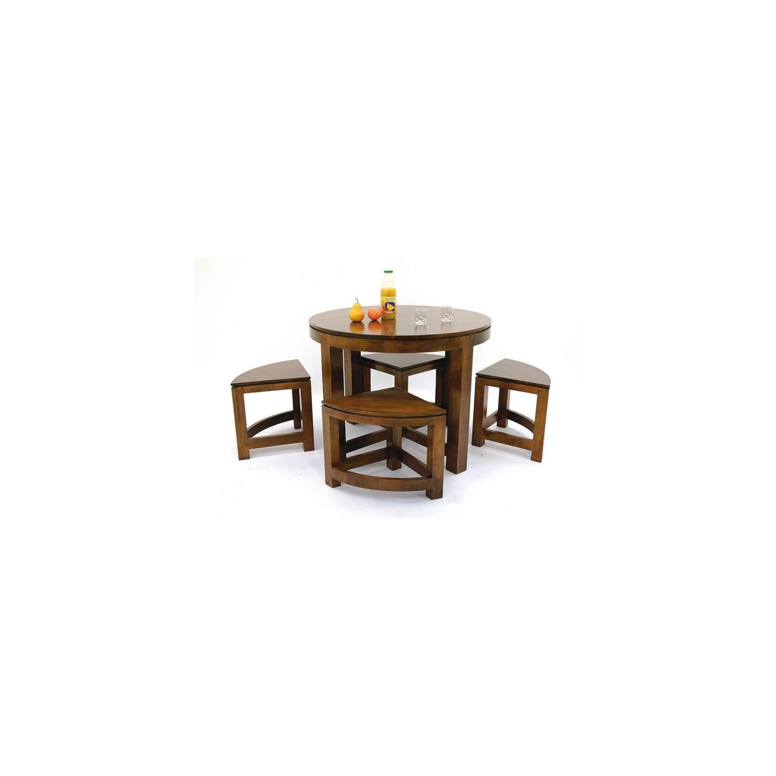 Table Basse + 4 Tabourets Montréal Hévéa - meuble écologiques