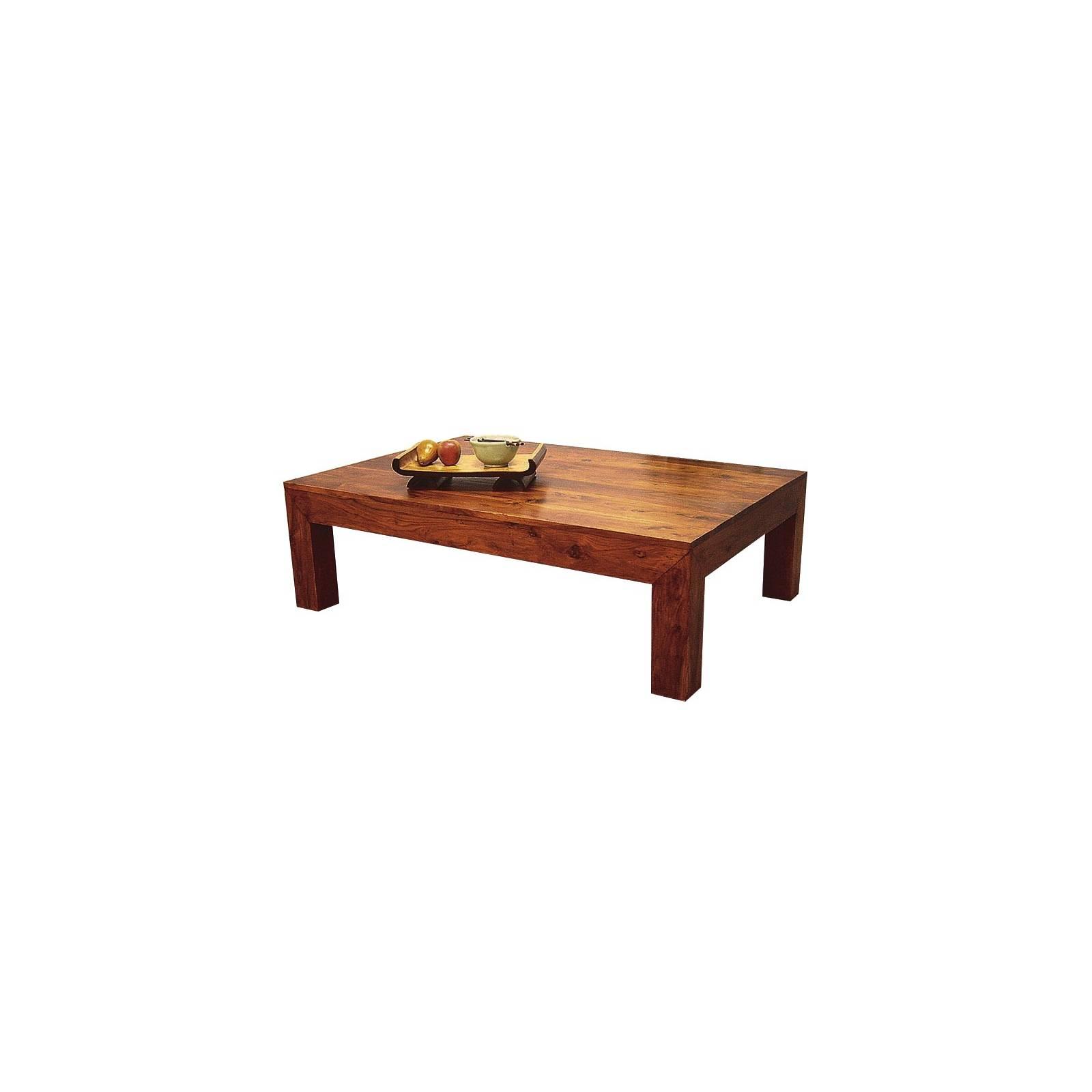 Table Basse Palissandre Zen 130 - meuble en bois exotique