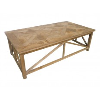 table basse alice plateau marquet en teck massif. Black Bedroom Furniture Sets. Home Design Ideas