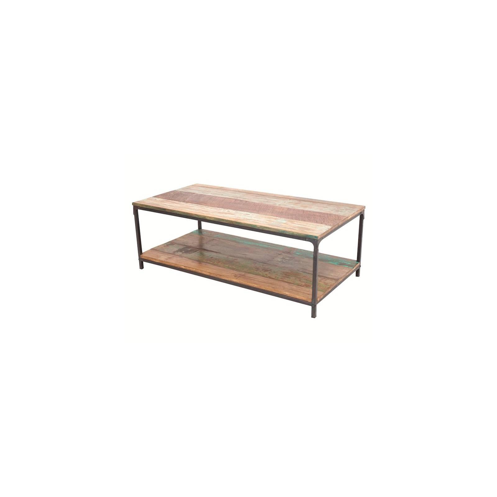 Table Basse Butterfly Palissandre - meuble industriel en bois exotique