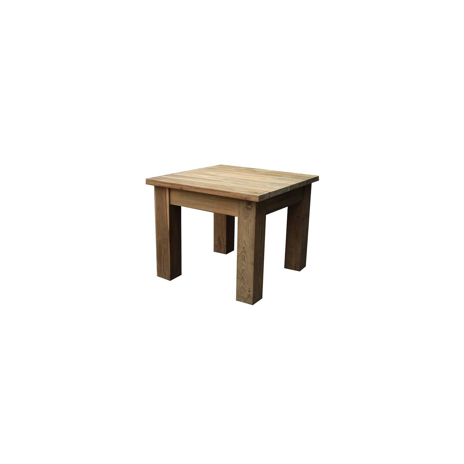 Table Basse Carré Greenface Teck Recyclé - style ethnique