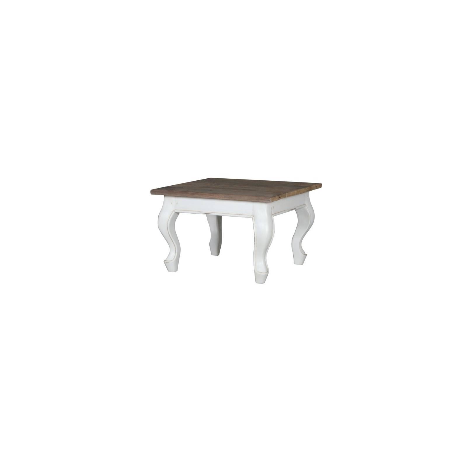 Table Basse Carrée Baroque Olimpia Teck - meuble teck massif