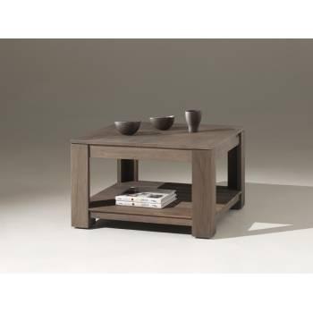 Table Basse Carrée Cube Teck - meuble bois exotique