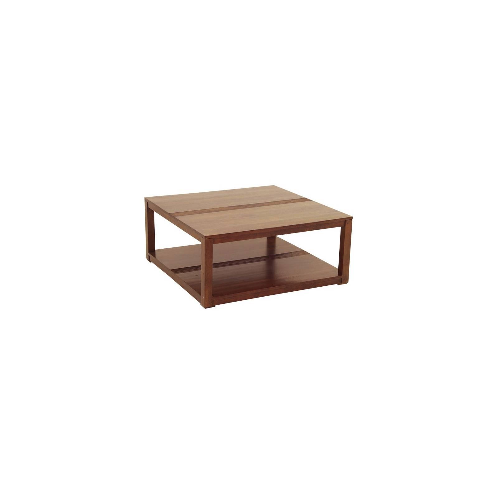 Table Basse Carrée Design Siguiri Hévéa - meuble colonial