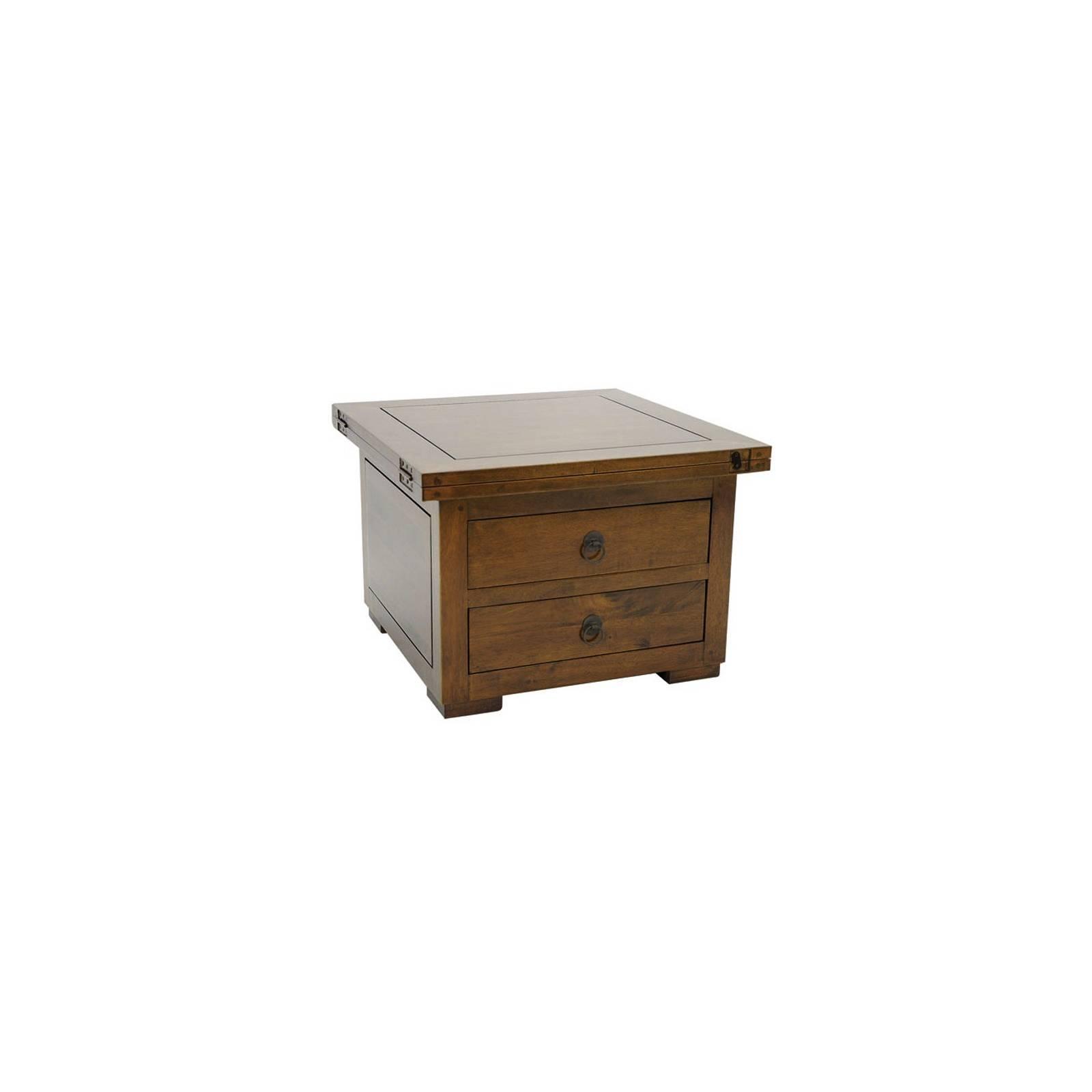 Table Basse Carrée PM Chine Hévéa - meuble bois exotique