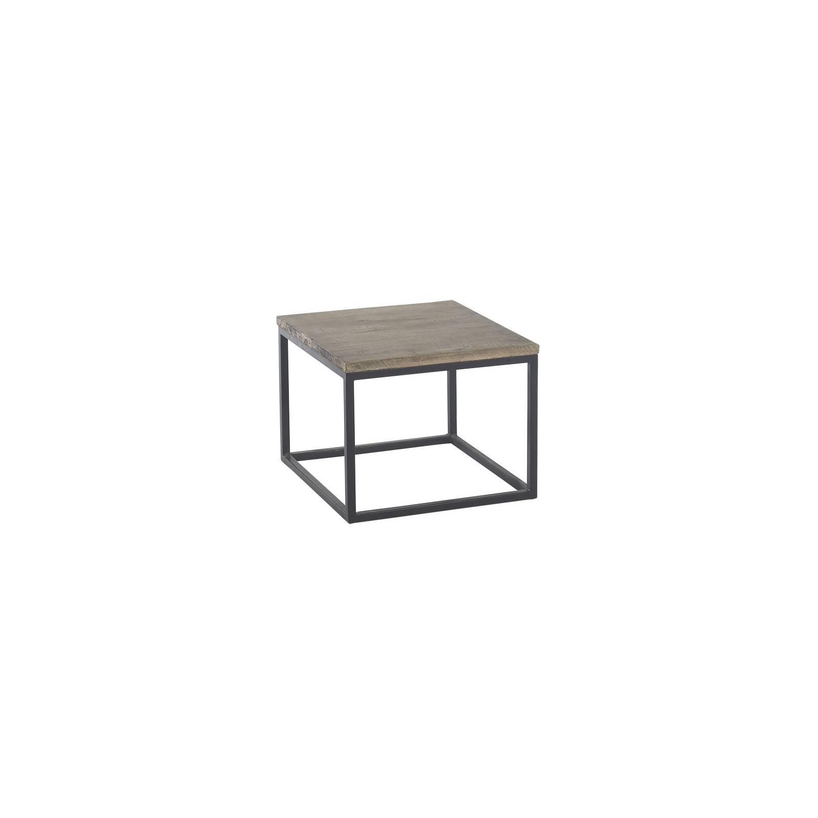 Table Basse Carrée Fer Forgé Vendôme Manguier - meuble classique