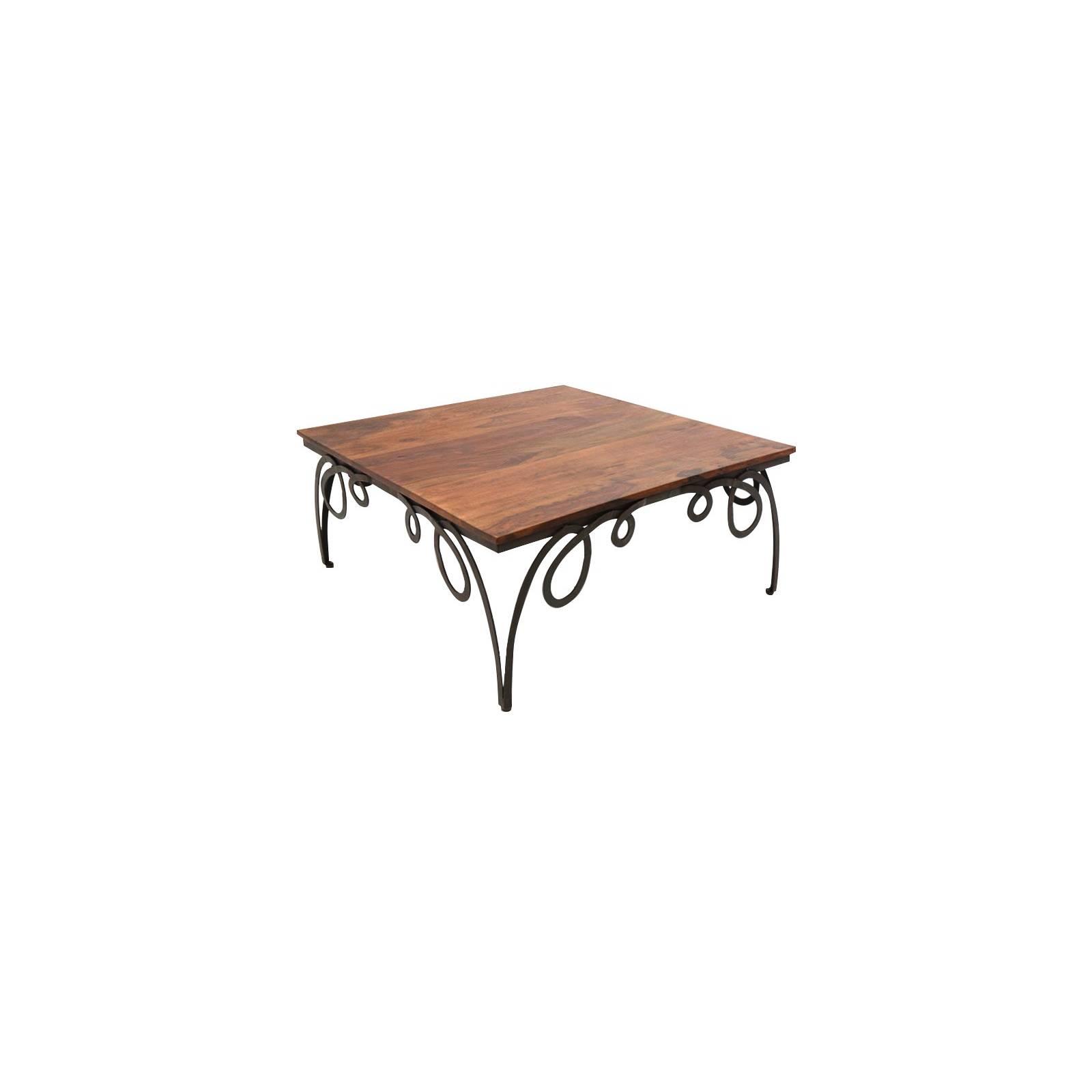 Table Basse Rétro Loft Palissandre - meuble style industriel