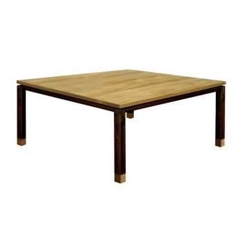Table Basse Carrée Luna Teck - meuble teck massif