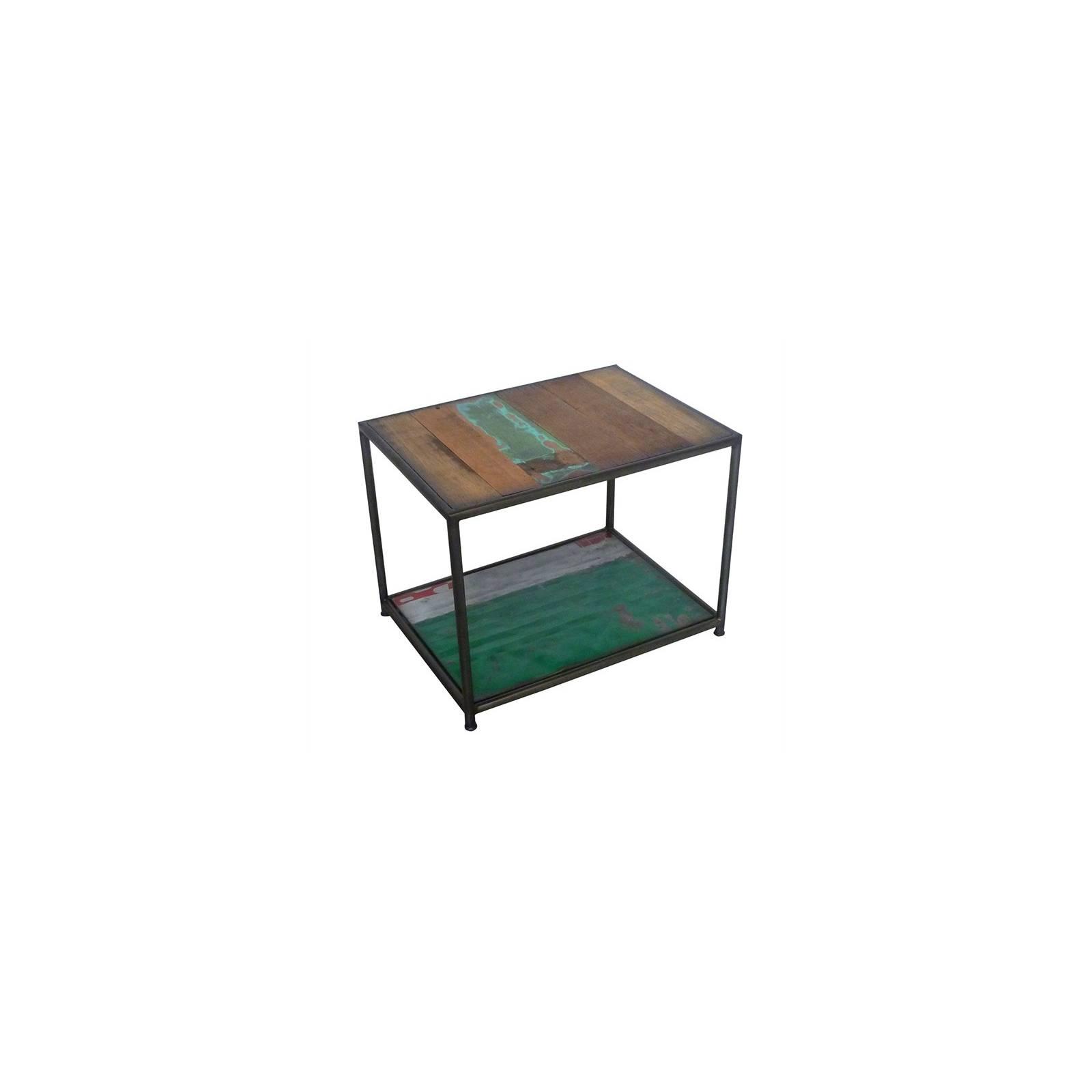 Table Basse Carrée Luxor Teck - meuble bois massif