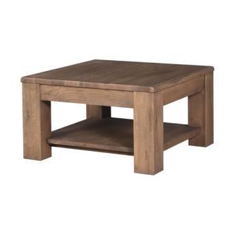 Table Basse Carrée Milena Bruna Chêne - meuble style design