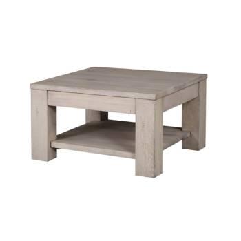 Table Basse Carrée Milena Grigia Chêne - meuble style design