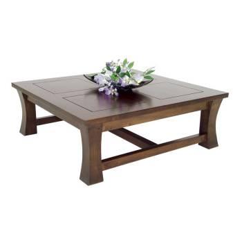 Table Basse Carrée Moderne Chine Hévéa - meuble bois exotique