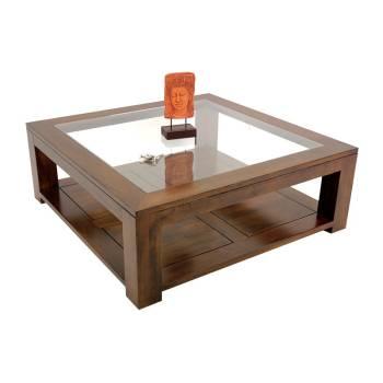Table Basse Carrée Omega Hévéa - meuble style design
