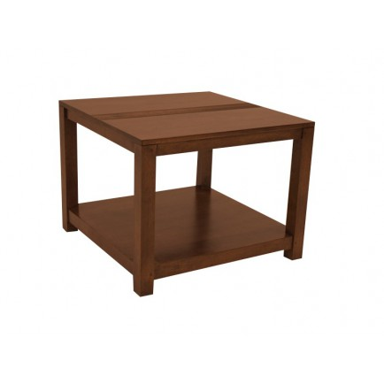 Table Basse Carrée Striée Siguiri Hévéa - meuble bois massif