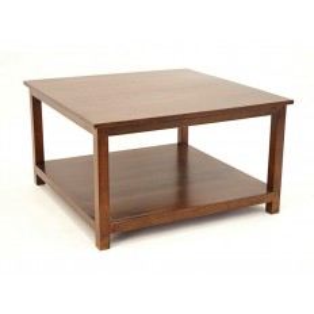 Table Basse Carrée Tradition Hévéa - meuble style classique