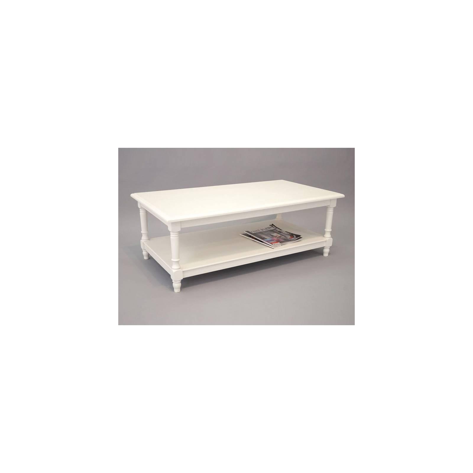 Table Basse Charme Hévéa - meuble style classique