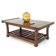Table Basse Plateau Quadrillé Chine Hévéa