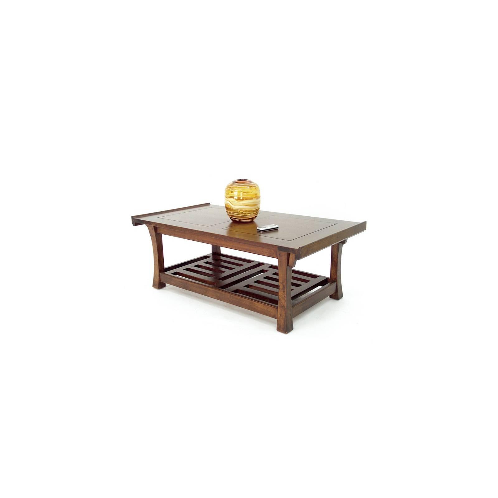 Table Basse Chine Hévéa - meuble bois exotique