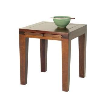 Bout de canapé Chine Hévéa - meuble bois exotique