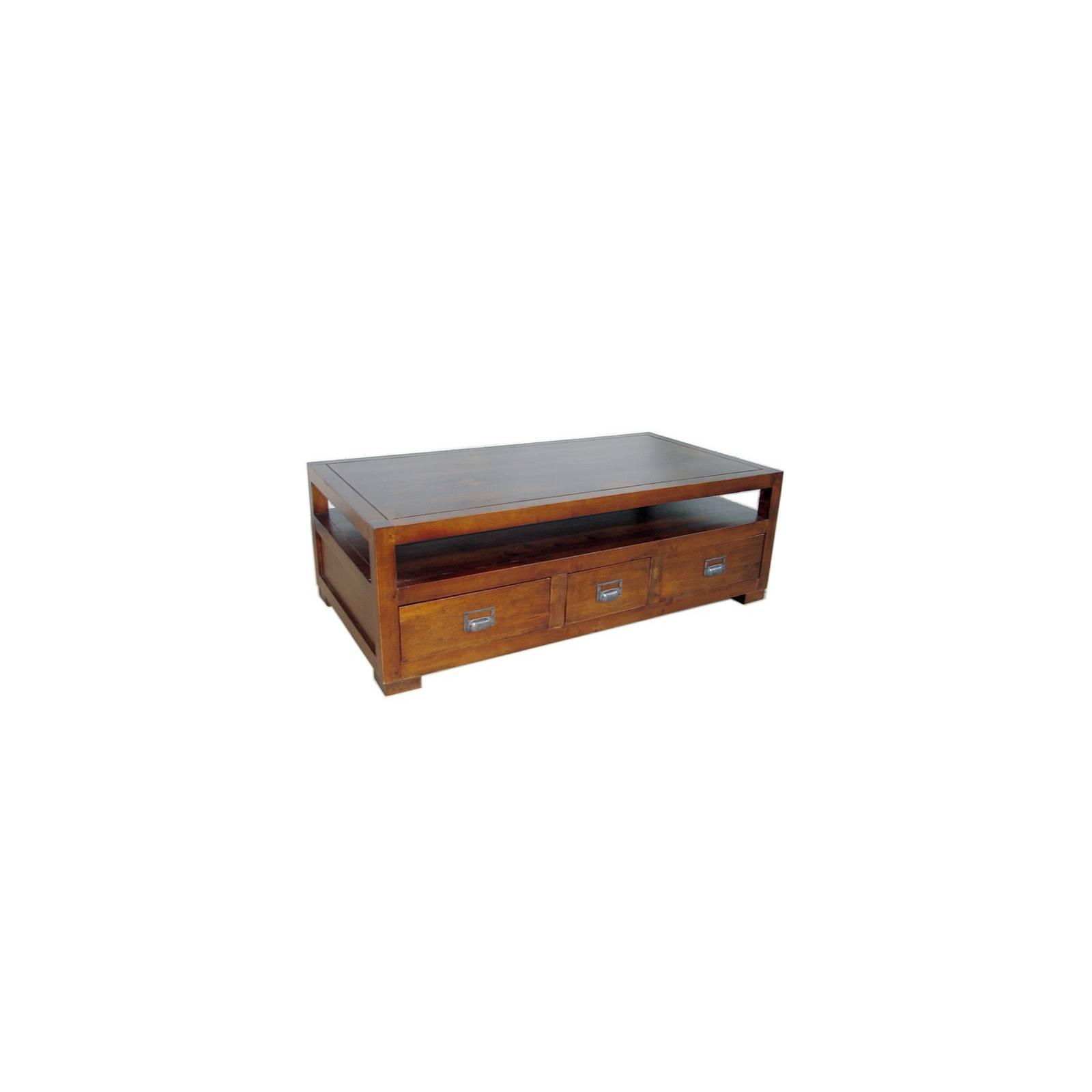 Table Basse Double Face Belle Epoque Hévéa - meuble style classique