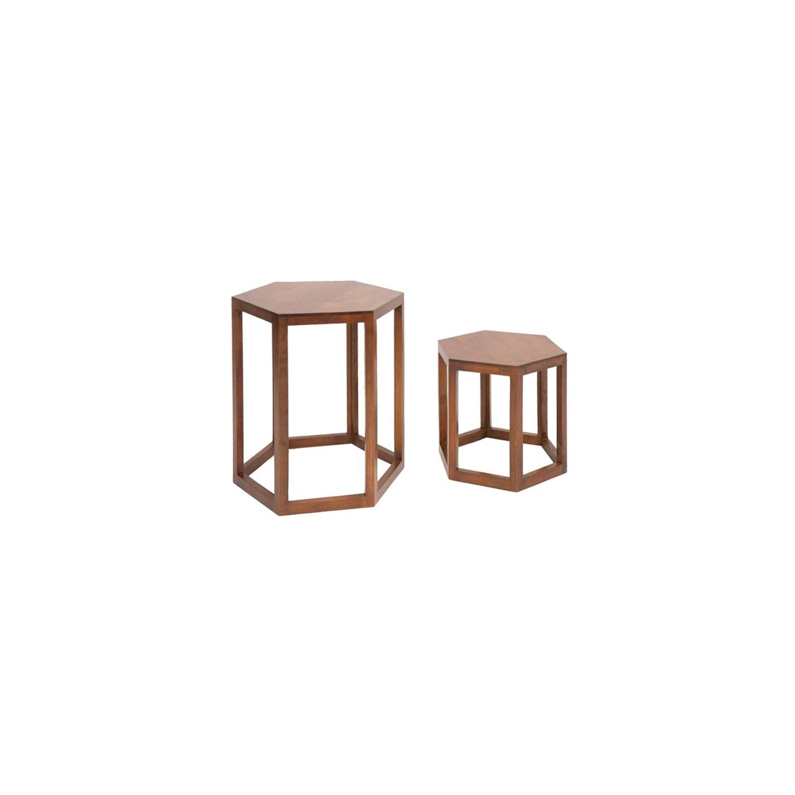 Sellette Hexagonale Omega Hévéa - meuble style design