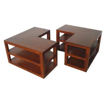 Table Basse Double Omega Hévéa