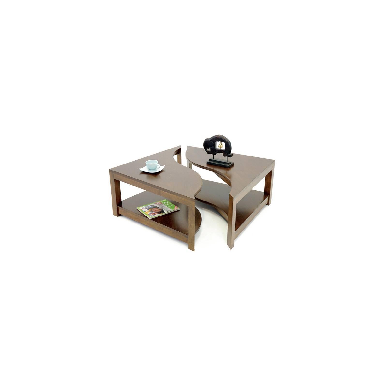 Table Basse Carrée Oceania Hévéa - meuble style colonial