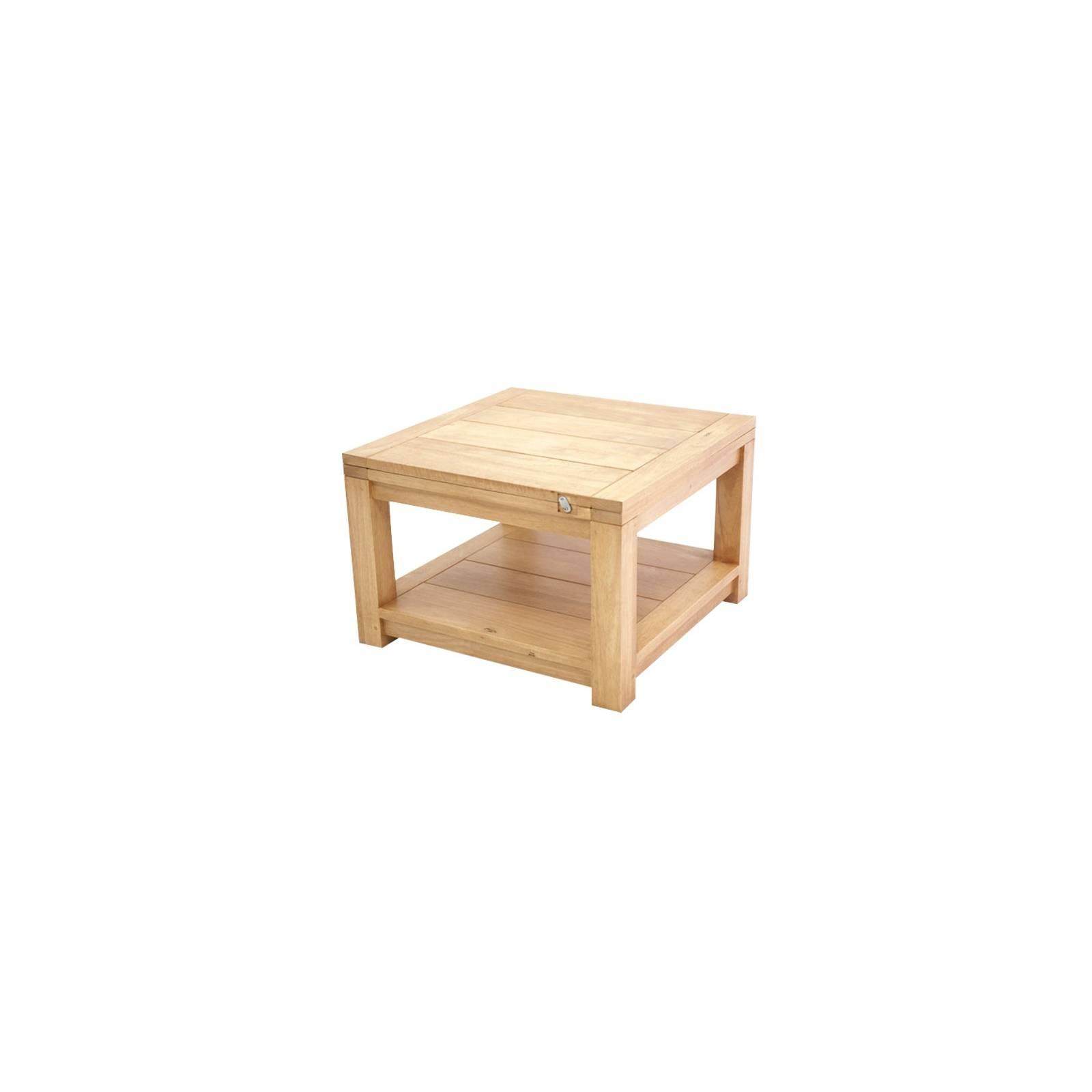 Table Basse Extensible Broadway Hévéa - meuble bois massif