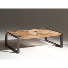 Table Basse Isis Teck Recyclé - meuble bois massif