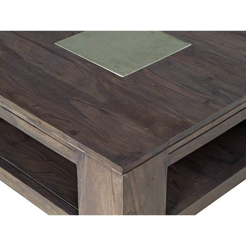 Table basse pierre et bois meubles design tara gris e for Meuble table basse