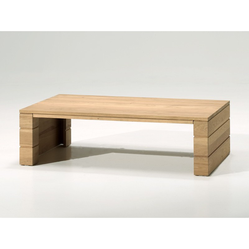 Table basse rectangulaire chenevert salon style contemporain - Table basse en chene ...