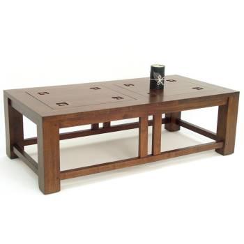 Table Basse Rect. Tanoa Hévéa - mobilier bois massif