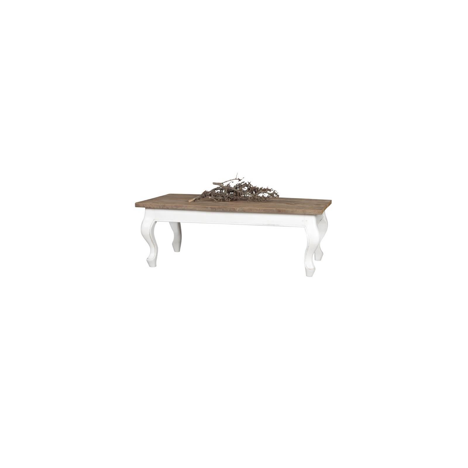 Table Basse Rectangulaire Baroque Olimpia Teck - meuble teck massif