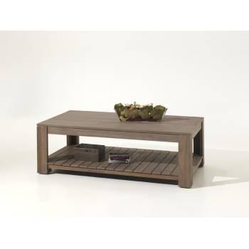 Table Basse Rectangulaire Cube Teck - meuble bois exotique