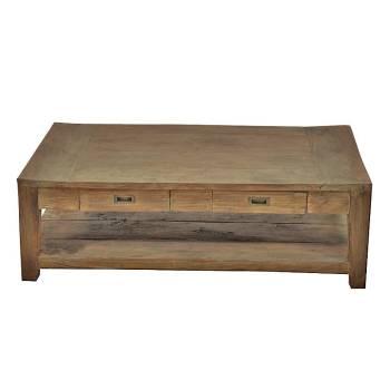 Table Basse Rectangulaire Felix Teck Recyclé - meuble bois massif