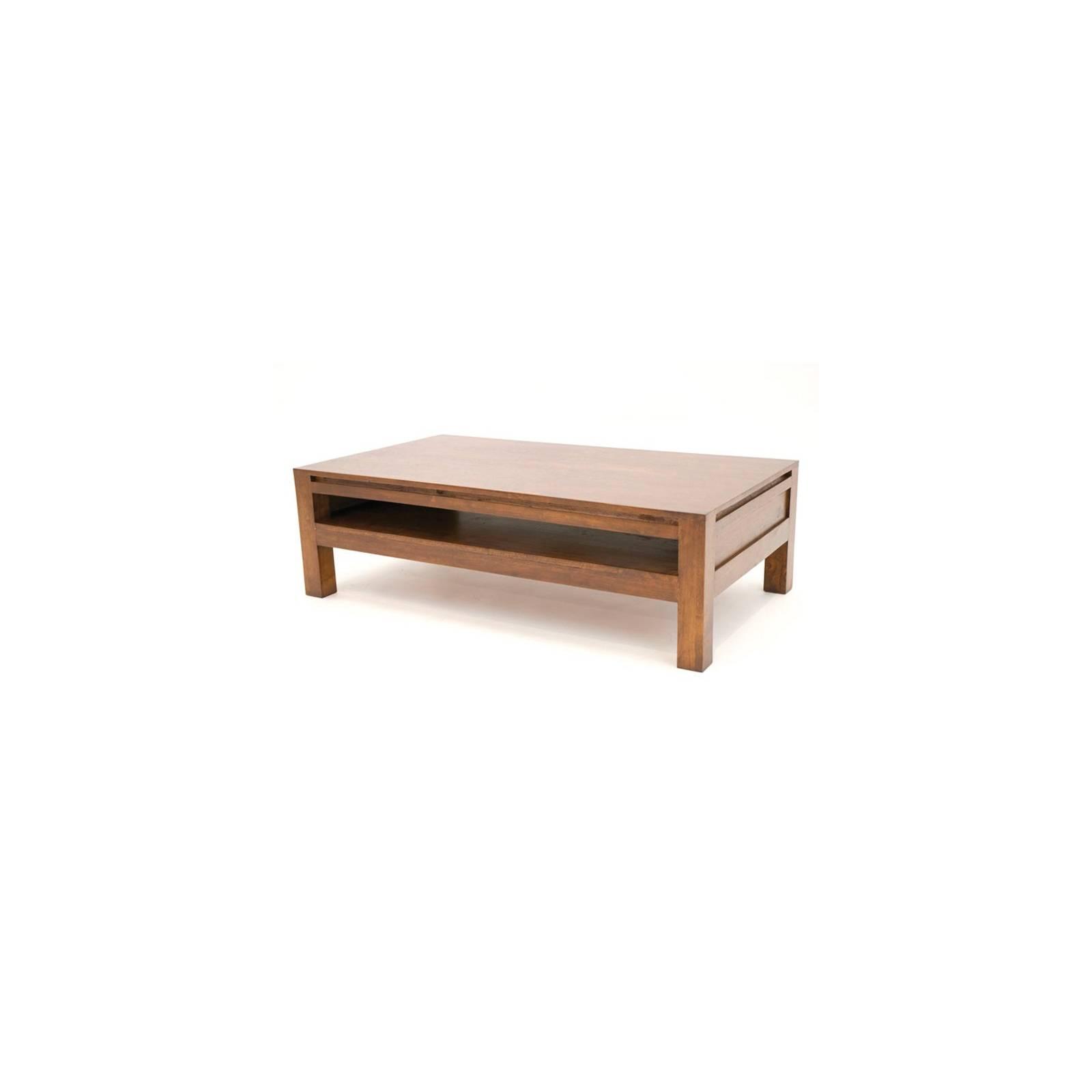 Table Basse Rectangulaire Fjord Hévéa - meuble déco