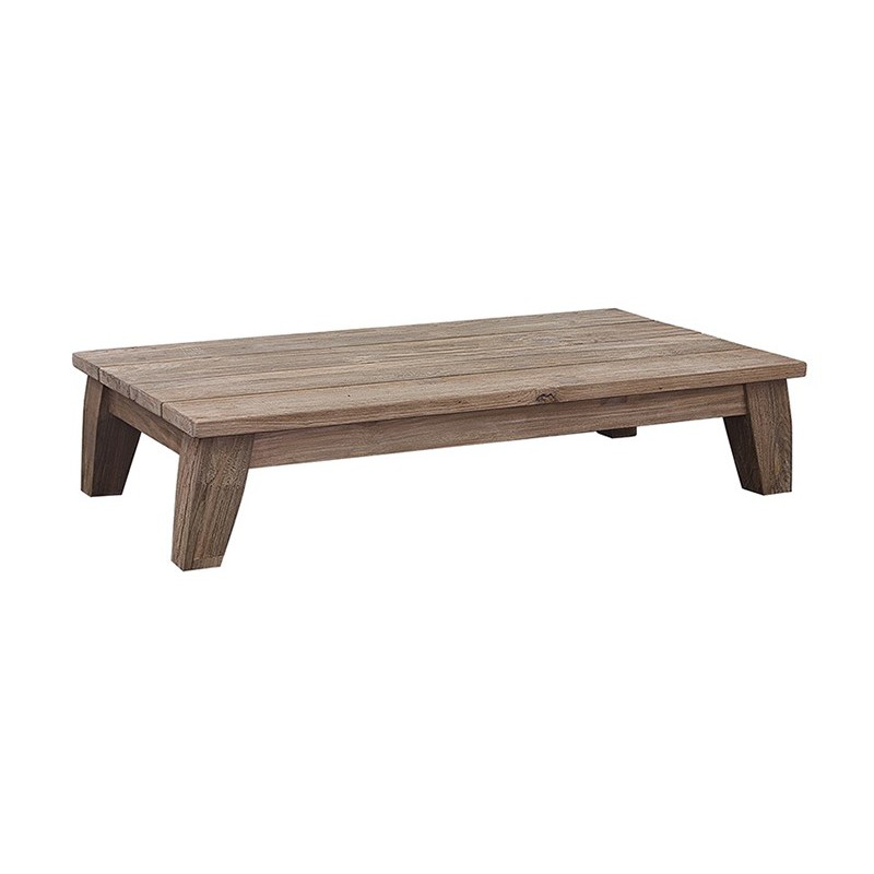 Table basse rectangulaire en teck gamme greenface pour for Grande table basse rectangulaire