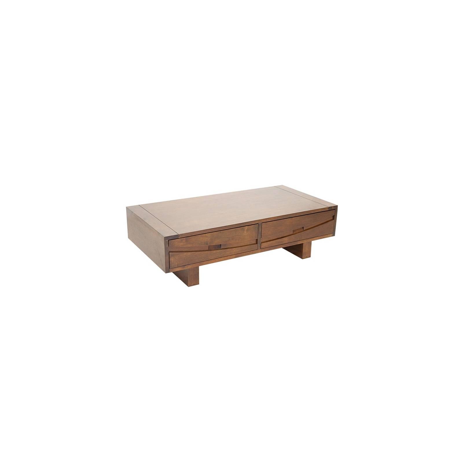 Table Basse Rectangulaire Horizon Hévéa - meuble style ethnique